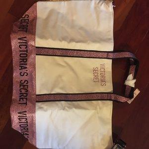 Victoria Secret Glitter Tote Bag NWT